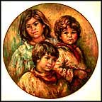 Village Children Collector Plate by Lisette DeWinne MAIN