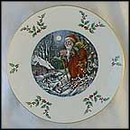 Santa's Visit Collector Plate