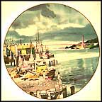 Fisherman's Wharf, San Francisco Collector Plate by Dong Kingman