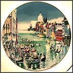 Grand Canal, Venice Collector Plate by Dong Kingman