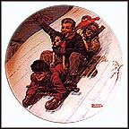 Downhill Daring Collector Plate by Norman Rockwell MAIN