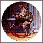 The Christmas Gift Collector Plate by Norman Rockwell MAIN