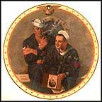 Reminiscing Collector Plate by Norman Rockwell MAIN