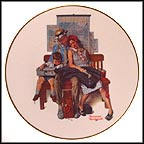 Mother's Vacation Collector Plate by Norman Rockwell