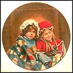 January - Fireside Dreams Collector Plate by Sandra Kuck