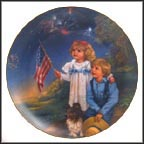 July - Star Spangled Sky Collector Plate by Sandra Kuck