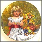 October - Indian Summer - artist signed Collector Plate by Sandra Kuck