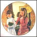 September - School Days Collector Plate by Sandra Kuck