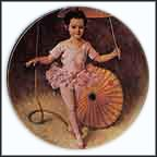 Katie The Tightrope Walker Collector Plate by John McClelland