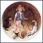 Maggie The Animal Trainer Collector Plate by John McClelland