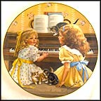 Afternoon Recital - artist signed Collector Plate by Sandra Kuck