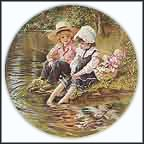 Little Anglers Collector Plate by Sandra Kuck
