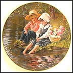 Little Anglers - artist signed Collector Plate by Sandra Kuck
