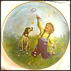 Forever Bubbles Collector Plate by Sandra Kuck