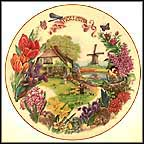 Dutch Country Garden Collector Plate by Dot Barlowe MAIN