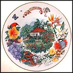 Hawaiian Garden Collector Plate by Dot Barlowe MAIN