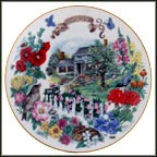 New England Garden Collector Plate by Dot Barlowe