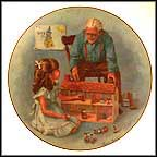 Grandpa And The Doll House Collector Plate by Sandra Kuck