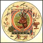 Ortwin The Deer Collector Plate by Dot And Sy Barlowe