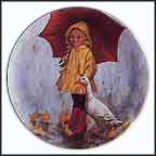 Rainy Day Fun Collector Plate by John McClelland