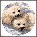 Baby Seals Collector Plate by Mike Jackson