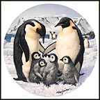 The Emperor Penguins Collector Plate by Mike Jackson