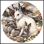 Arctic Hare Family Collector Plate by Mike Jackson