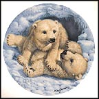 Polar Bear Cubs Collector Plate by Mike Jackson