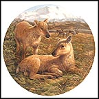 Reindeer Young Collector Plate by Mike Jackson