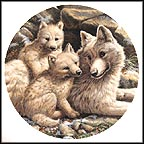 Arctic Wolf Family Collector Plate by Mike Jackson