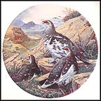 Flock Of Ptarmigan Collector Plate by Derek Braithwaite