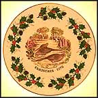 Three French Hens Collector Plate by H. Colclough