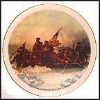 Washington Crossing The Delaware Collector Plate by Emanuel Gottlieb Leutze