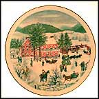 The Old Checkard House In Winter Collector Plate by Grandma Moses MAIN