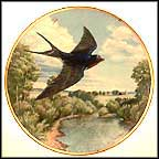 Barn Swallow Collector Plate by Linda Thompson MAIN