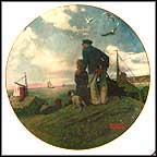Looking Out To Sea Collector Plate by Norman Rockwell MAIN