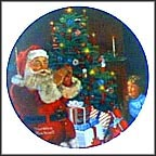 Santa's Secret Collector Plate by Norman Rockwell MAIN