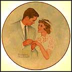 Bride And Groom Collector Plate by Norman Rockwell MAIN