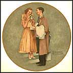 First Prom Collector Plate by Norman Rockwell