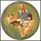Giving Thanks Collector Plate by Norman Rockwell