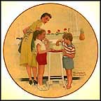 Mother's Little Helpers Collector Plate by Norman Rockwell