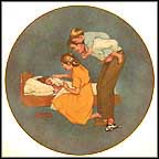 Sweet Dreams Collector Plate by Norman Rockwell