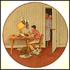 The Student Collector Plate by Norman Rockwell