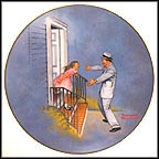 We Missed You, Daddy Collector Plate by Norman Rockwell