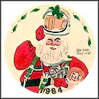 Space Age Santa Collector Plate by Norman Rockwell