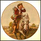 Off To School Collector Plate by Norman Rockwell
