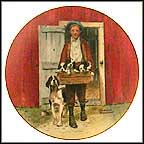 Puppy Love Collector Plate by Norman Rockwell