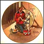 While The Audience Waits Collector Plate by Norman Rockwell