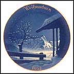 Christmas In The Alps Collector Plate by Professor Theo Schmuz-Baudiss