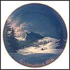 Christmas In The Alps Collector Plate by Willi Hein